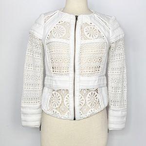 Anthro Elevenses Idyllwild Ivory Lace Jacket 4